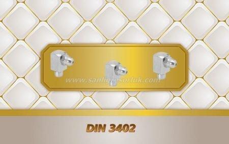Bilyalı eğri tip çakma gresörlük E (K2a) DIN 3402 90 °
