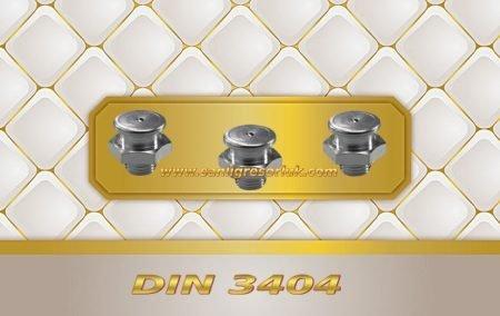 Buton Baş Dişli Gresörlük M1 DIN 3404 180 ° Paslanmaz