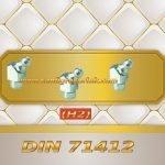 Çakma Eğri Gresörlük Tip HS 45 ° (H2a) DIN 71412