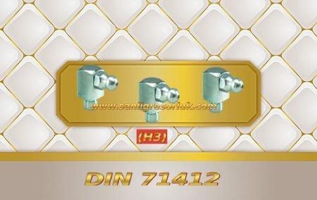 Çakma Eğri Tip Gresörlük HS 90 ° (H3a) DIN 71412