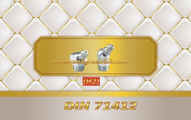 Eğri Gresörlük Dişli H2 45 ° DIN 71412
