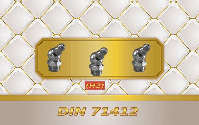 Paslanmaz Eğri Tip Dişli Gresörlük 45 °DIN 71412