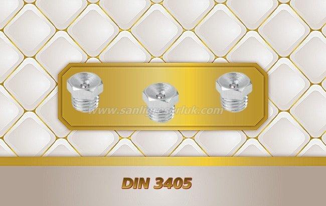 Çukur Başlı Düz Tip Dişli Gresörlük DIN 3405 180 °