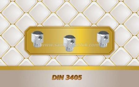 Çukur Başlı Eğri Tip Çakma Gresörlük 90 ° DIN 3405