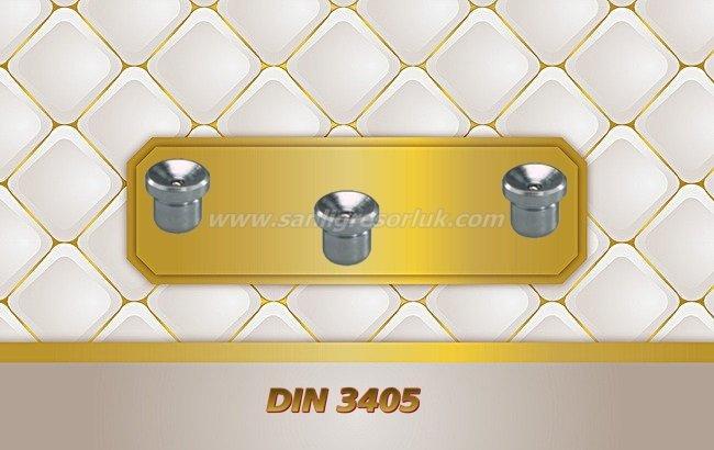 Çukur Başlık Çakma Düz Tip Gresörlük DIN 3405 180 °