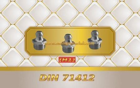 Paslanmaz Düz Gresörlük Dişli (H1) DIN 71412 180 °