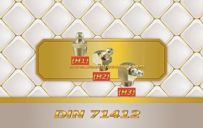 Düz ve eğri sarı kaplama Gresörlük H/S Din 71412