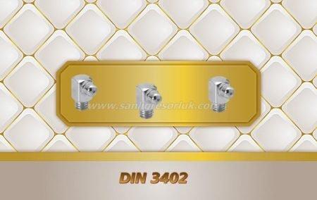 Bilyalı eğri tip Dişli Gresörlük C (K3) DIN 3402 90 derece Çinko Kaplama