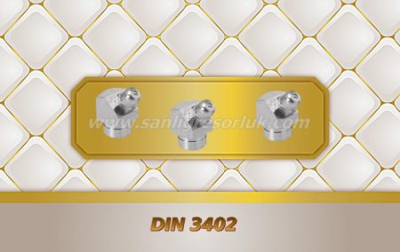 Bilyalı Çakma Açılı Tip Gresörlük E (K2a) DIN 3402 45 °