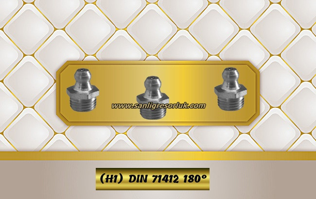 Hydraulic grease nipple HR (H1) Stainless DIN 71412